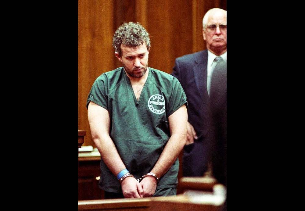 In this June 23, 1995 file photo, former English soccer coach and recruiter Barry Bennell appears in a Duval County courtroom in Jacksonville, Fla.