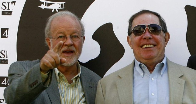 In this file photo taken on Oct. 9, 2007 US special effects supervisory Douglas Trumbull L and visual futurist designer Syd Mead of Blade Runner: the final cut pose at the Catalonian International film festival of Sitges. AFP Photo