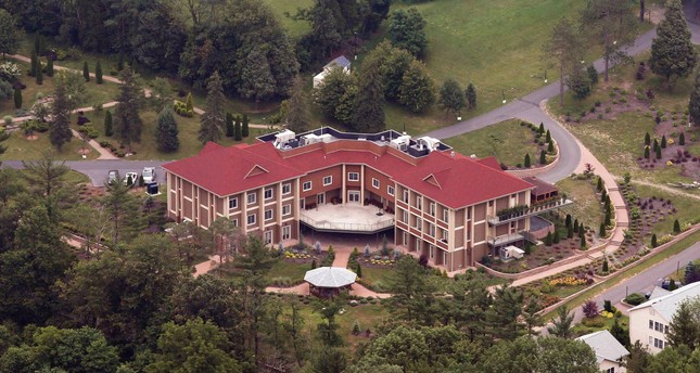 An aerial view of the mansion that self-exiled Fetullah Gülen, the leader of secretive terrorist group FETÖ, and his followers reside in, Pennsylvania, U.S., July 9, 2013.