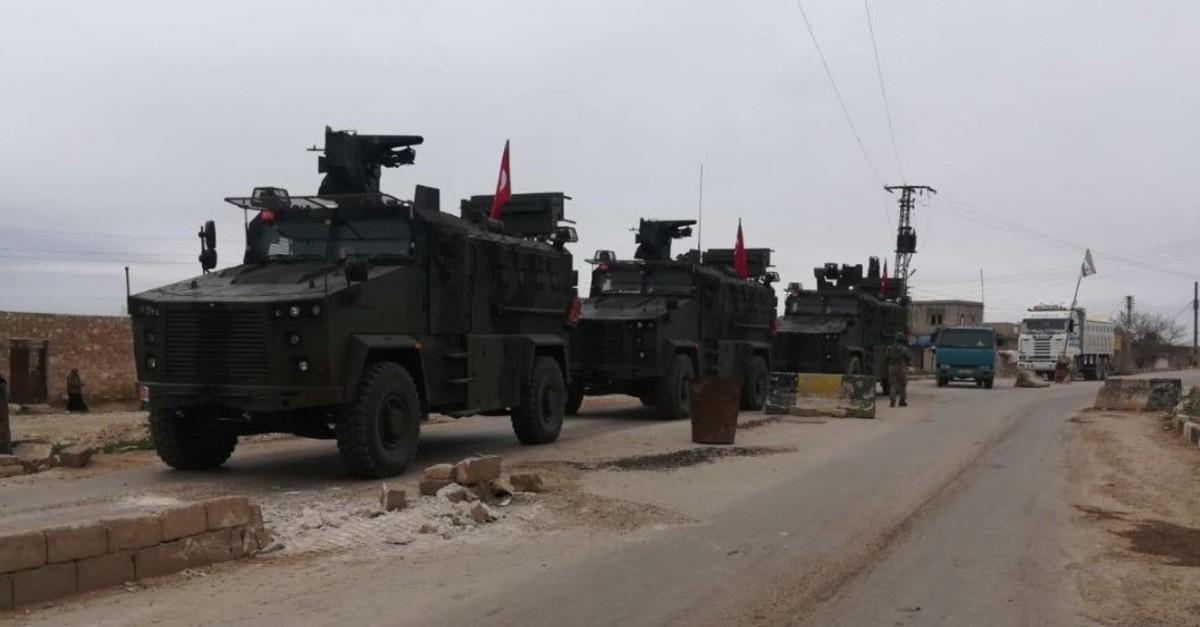 Photo shared by Ministry of Defense of independent patrol coordinated with Russia in Tel Rifat on March 26, 2019.