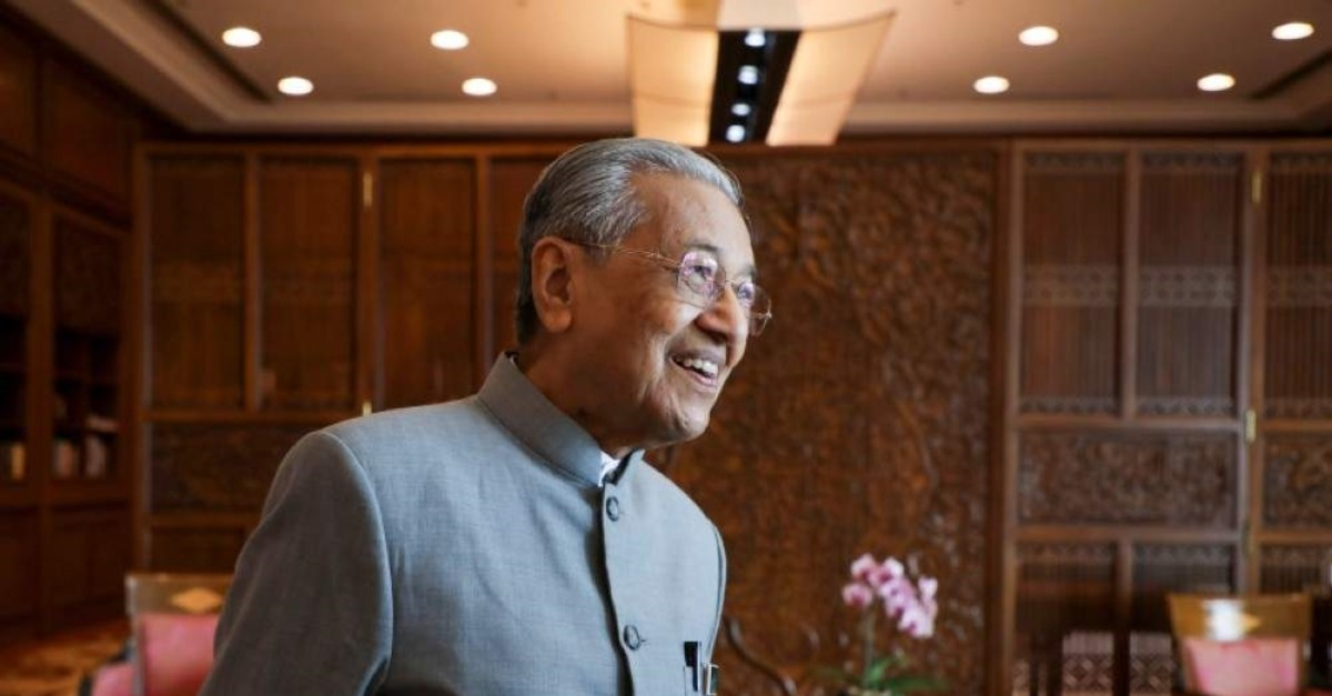 Malaysia's Prime Minister Mahathir Mohamad reacts during an interview with Reuters in Putrajaya, Malaysia, Dec. 10, 2019. (Reuters Photo)