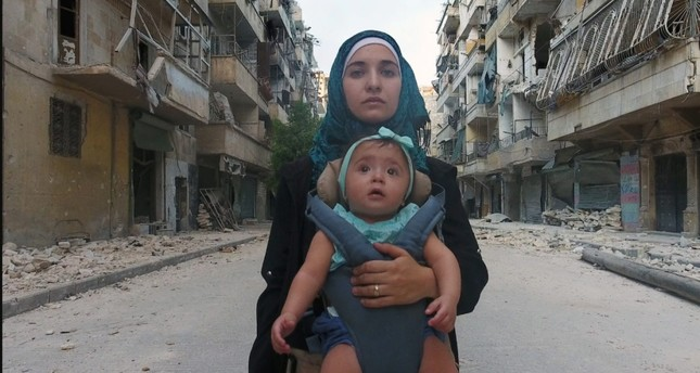 Waad al-Kateab documents desperate conditions she and her husband were living in during the Syrian civil war.