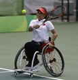 First Turkish Paralympic tennis player competes in UK