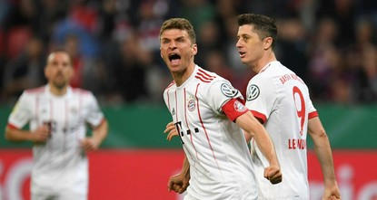 Treble-hunting Bayern thrash Leverkusen 6-2 in cup semis