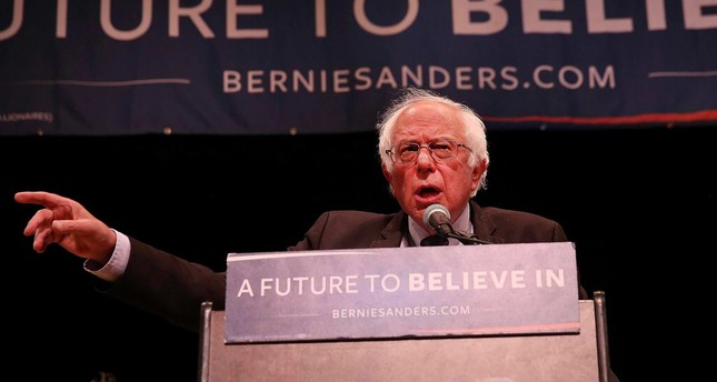 U.S. Sen. Bernie Sanders (D-VT) speaks to supporters in Manhattan at an event where he went over his core political beliefs on June 23, 2016 in New York City.  (AFP Photo)