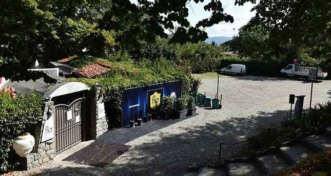 A view of the exterior of a nightclub where, according to reports, early Thursday, Sept. 7, a carabinieri patrol car picked up two students from the United States. (AP Photo)