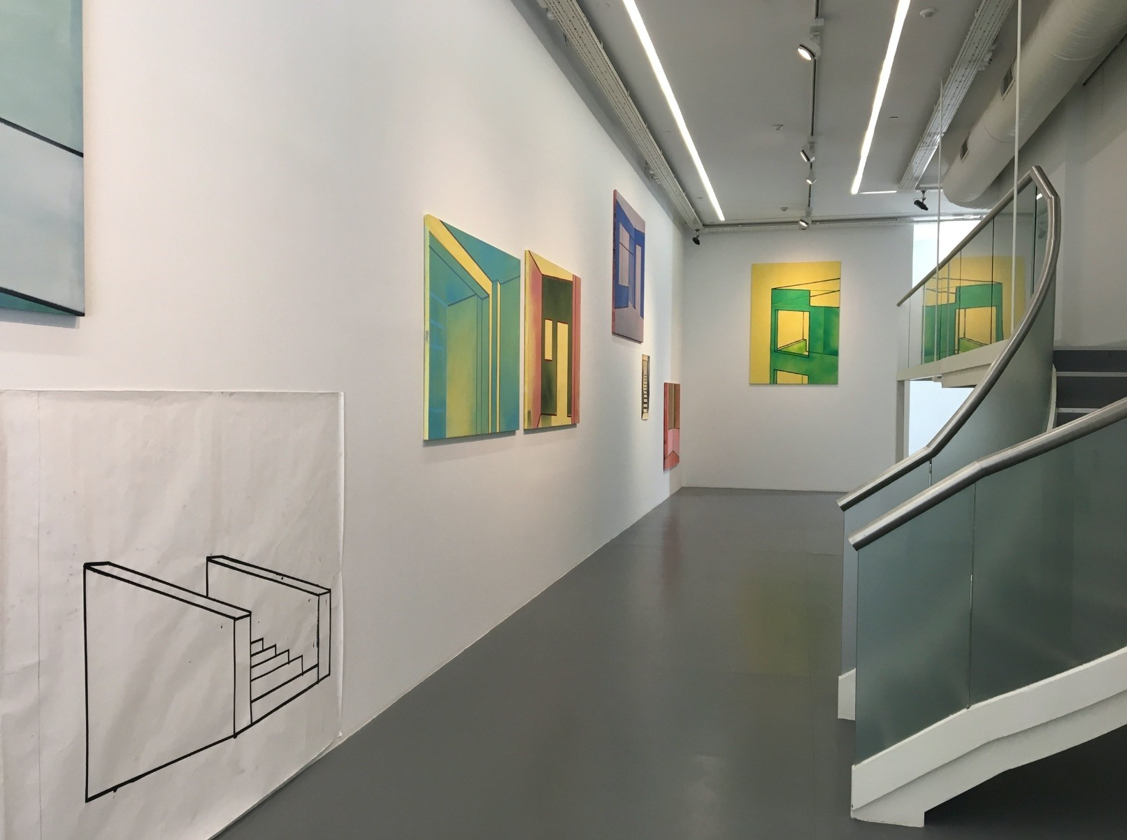 Arter curator Eda Berkmen transformed the ground floor of the u0130stiklal Avenue gallery for its first painting show in close collaboration with the artist.