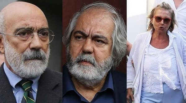 Three prominent figures who are accused of serving as the media arm of FETu00d6, Ahmet Altan (L), Mehmet Altan (M) and Nazlu0131 Ilu0131cak (R).