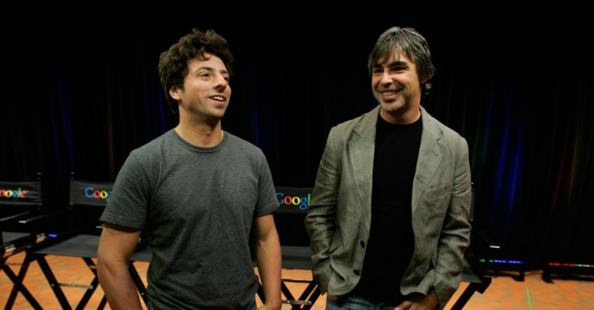 In this Sept. 2, 2008, file photo Google co-founders Sergey Brin, left, and Larry Page talk about the new Google Browser, ,Chrome,, during a news conference at Google Inc. headquarters in Mountain View, Calif. (AP Photo)
