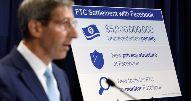 Federal Trade Commission (FTC) Chairman Joe Simons announces that Facebook Inc has agreed to a settlement of allegations it mishandled user privacy during a news conference at FTC Headquarters in Washington, U.S., July 24, 2019. (REUTERS Photo)