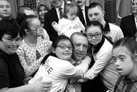 President Erdoğan meets children with Down syndrome