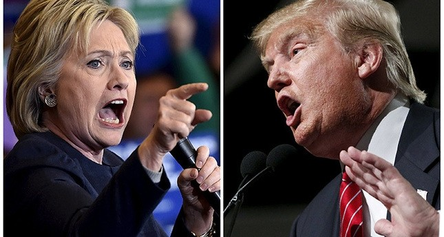 Hillary Clinton (L) and Donald Trump