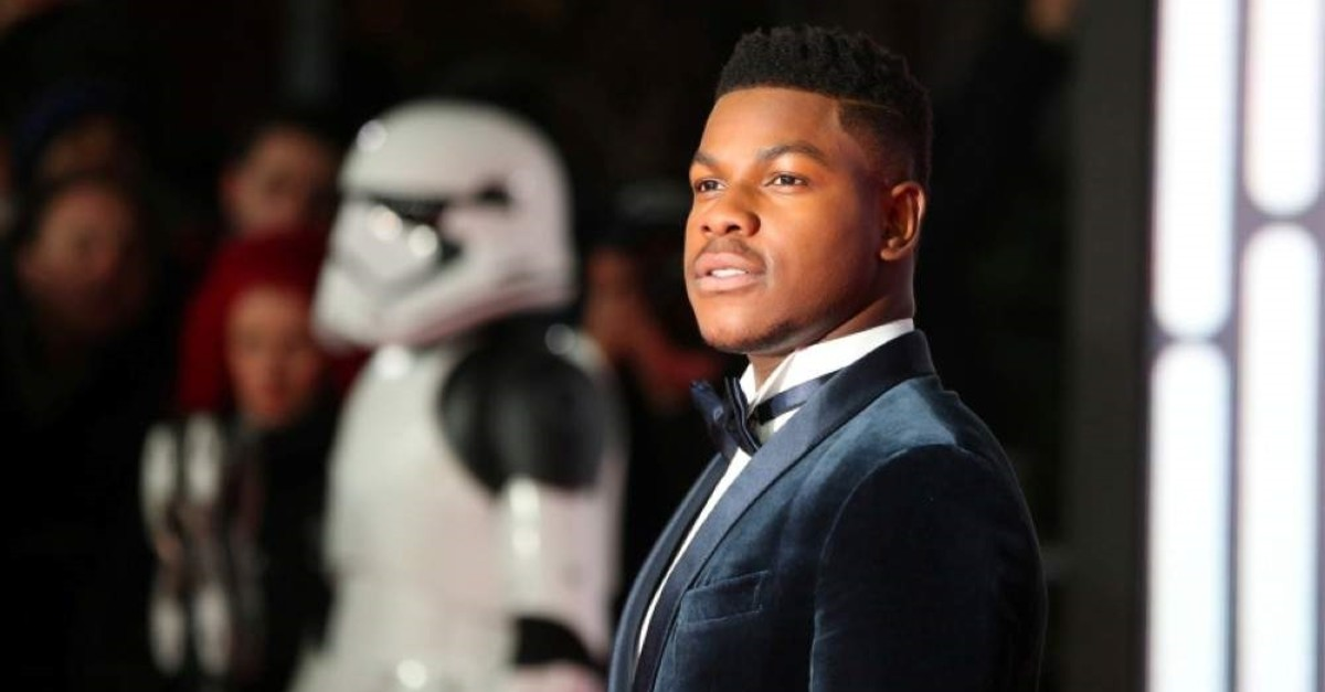 Actor John Boyega poses for photographers as he arrives for the European Premiere of 'Star Wars: The Last Jedi', at the Royal Albert Hall in central London, Britain, December 12, 2017. (Reuters Photo)