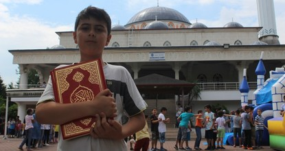 Play and pray: Mosque's playground draws kids