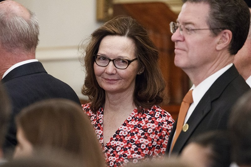 CIA Director nominee Gina Haspel attends the ceremonial swearing in ceremony for US Secretary of State Mike Pompeo at the State Department in Washington, DC, May 2, 2018. (EPA Photo)