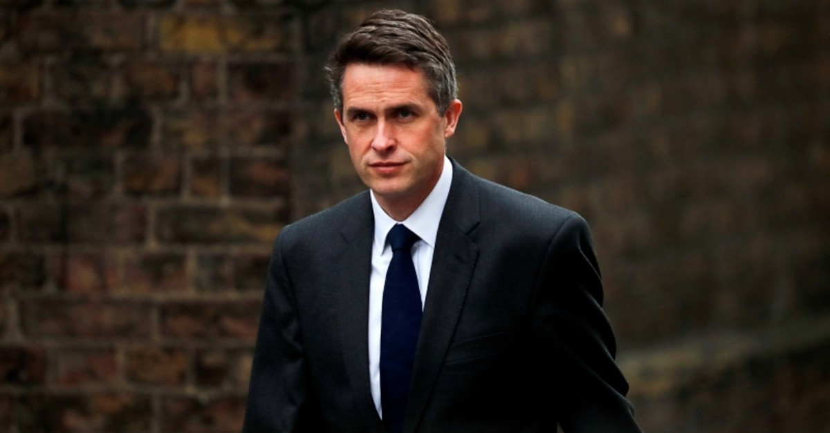 Britain's Secretary of State for Defence Gavin Williamson is seen outside Downing Street in London, Britain, April 2, 2019. (Reuters Photo)