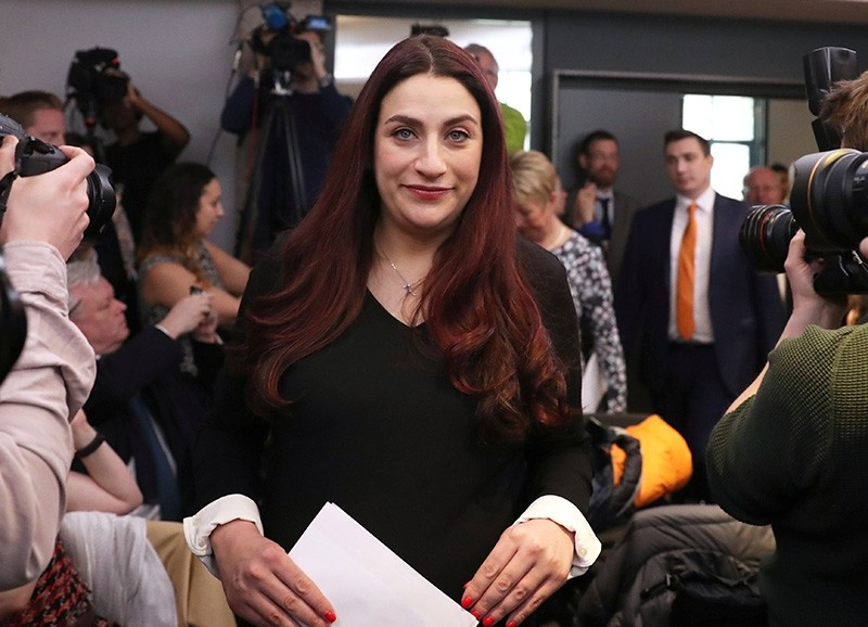 Britain's Labour Party MP Luciana Berger arrives at a news conference in London, Britain, Feb. 18, 2019. (Reuters Photo)