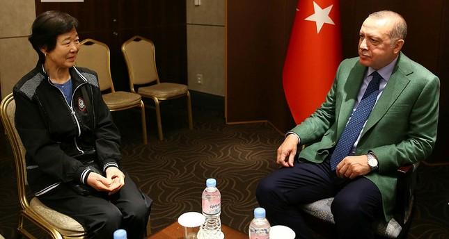 أردوغان يلتقي بنت الحرب الكورية في سيول