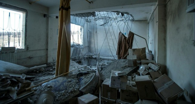 The destroyed hospital of Kafr Nabl went out of service after it was hit in four airstrikes, Idlib, Syria, Feb. 5.
