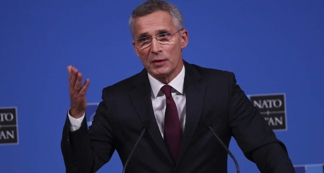 NATO Secretary General Jens Stoltenberg talks to journalists during a news conference during a NATO Foreign Ministers meeting at the NATO headquarters in Brussels, Nov. 20, 2019. (AP Photo)