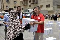 Second stage of distributing Turkish humanitarian aid in Gaza begins