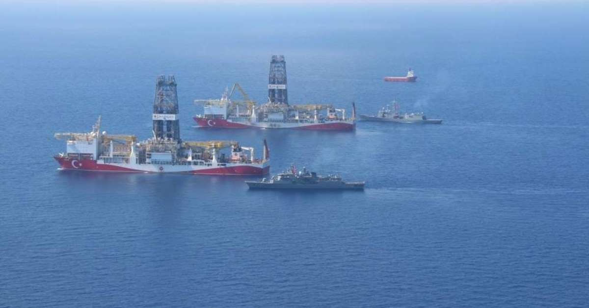 Turkey's ultra-deepwater drillship Yavuz started its journey toward its new location Lefko?a -1 line offshore hydrocarbon field offshore northern Cyprus. (?HA Photo)