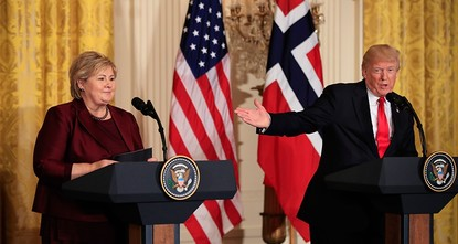 pPresident Donald Trump boasted on Wednesday about a $10 billion deal involving Norway's purchase of F-52 aircraft from the U.S. The only problem is that no such aircraft exists./p  pDuring a...