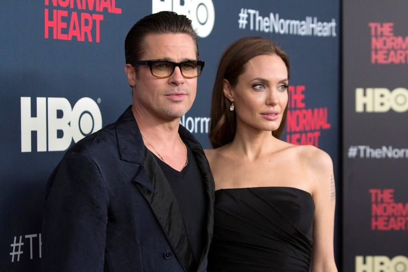 Actors Brad Pitt and Angelina Jolie attend the premiere of ,The Normal Heart, in New York, NY, U.S., May 12, 2014. (Reuters Photo)