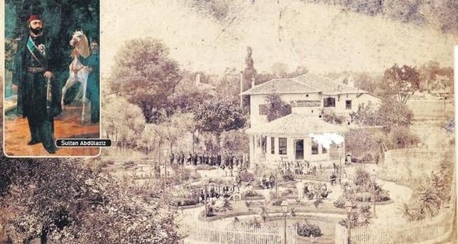 Ottoman Sultan Abdülaziz and Manastır (Bitola) Public Garden