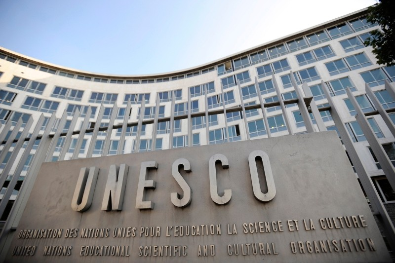 A view of the UNESCO headquarters after the second day vote for the new secretary-general, in Paris, France (EPA Photo)