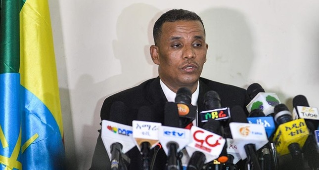 Ethiopia's Attorney General Birhanu Tsegaye speaks about the corruption and human rights violation reports in the country, following the detention of 63 military and intelligence officers in Addis Ababa on Nov. 12, 2018. (AFP Photo)