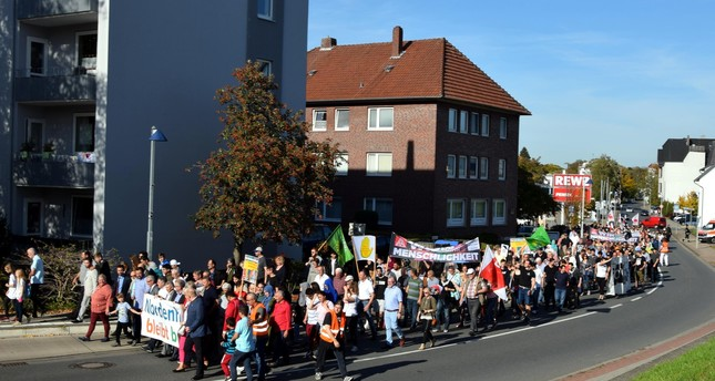 Protests in Germany condemn mosque attack
