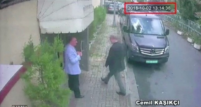 A still image taken from CCTV video and obtained by TRT World claims to show Saudi journalist Jamal Khashoggi as he arrives at Saudi Arabia's consulate in Istanbul Oct. 2, 2018. (REUTERS Photo)
