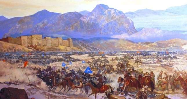 A diorama of the Battle of Manzikert at the Istanbul Military Museum.