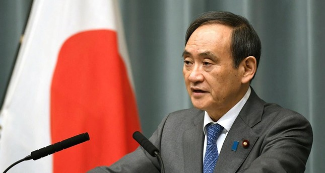 Japan's Chief Cabinet Secretary Yoshihide Suga speaks to media during a news conference in this photo taken by Kyodo February 12, 2017 (Reuters Photo)