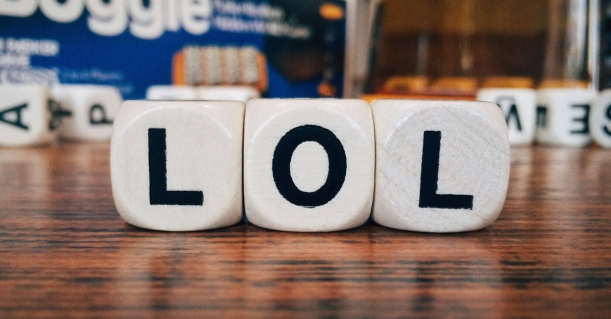 ,LOL,, one of the most used abbreviation, is short for ,laughing out loud.,