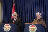 Turkey will not tolerate presence of PKK terrorists in Sinjar, PM Yıldırım reiterates during Iraq visit