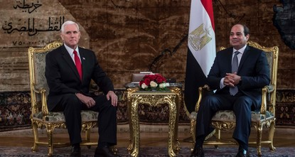 pU.S. Vice President Mike Pence on Saturday told Egypt's leader the United States would support a two-state solution for Israelis and Palestinians if the two sides agreed, seeking to reassure a key...