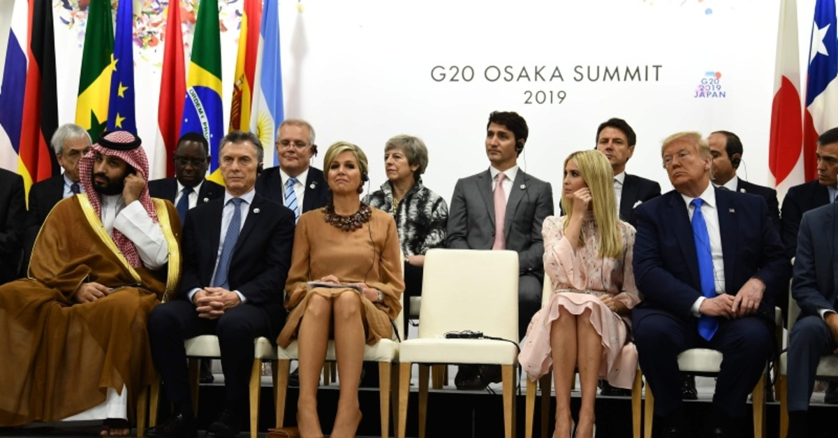 Saudi Arabia's Crown Prince Mohammed bin Salman, Argentina's President Mauricio Macri, Queen Maxima of the Netherlands, Advisory to the President Ivanka Trump and US President Donald Trump attend event on women's empowerment during G20 (AFP Photo)