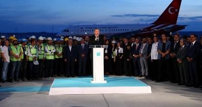 Präsidentenmaschine landet auf Istanbuler Flughafen