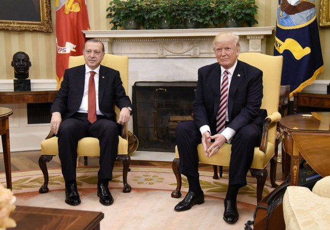 The meeting between presidents Recep Tayyip Erdoğan and Donald Trump in the Oval Office at the White House in Washington, May 16.