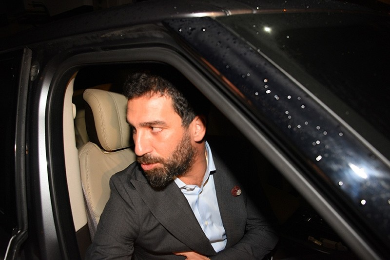 Arda Turan seen in Etiler, Istanbul after giving his statement to the police about the incident with Berkay. (Sabah Photo)