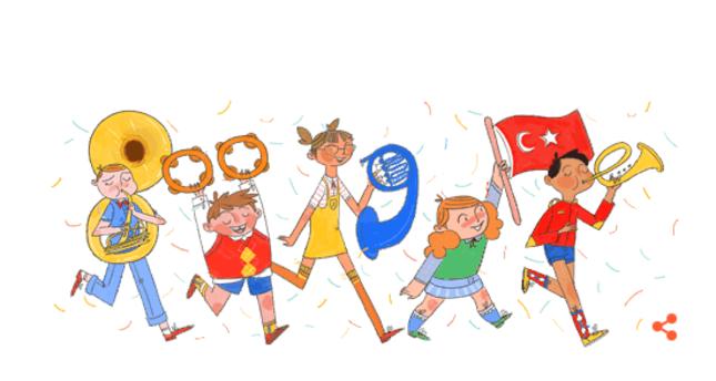 Google doodle celebrates April 23 Children's Day