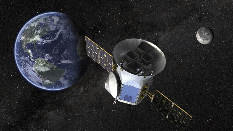 This image made available by NASA shows an illustration of the Transiting Exoplanet Survey Satellite (TESS). (AP Photo)