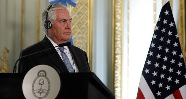 U.S. Secretary of State Rex Tillerson is seen during a joint news conference at San Martin Palace in Buenos Aires, Argentina, Feb. 4, 2018. (Reuters Photo)