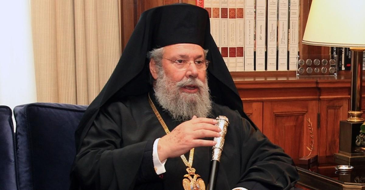 Archbishop Chrysostomos II of Cyprus. (DHA Photo)
