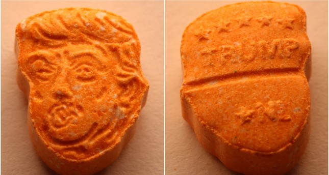 This undated  picture provided by Polizeiinspektion Osnabrueck police shows an ecstasy pill. AP Photo