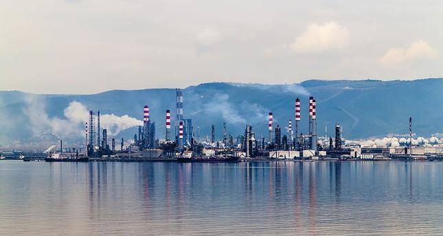 View of Tüpraş refinery in Kocaeli, Turkey.