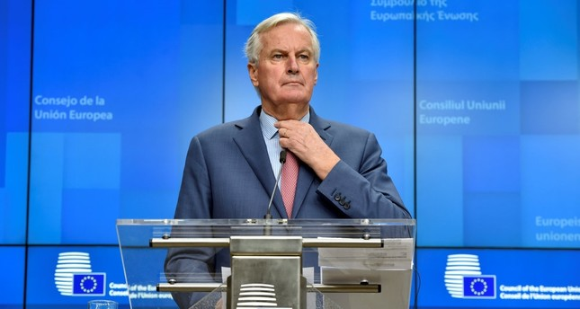 European Union chief Brexit negotiator Michel Barnier holds a news conference, Brussels, Nov. 19.