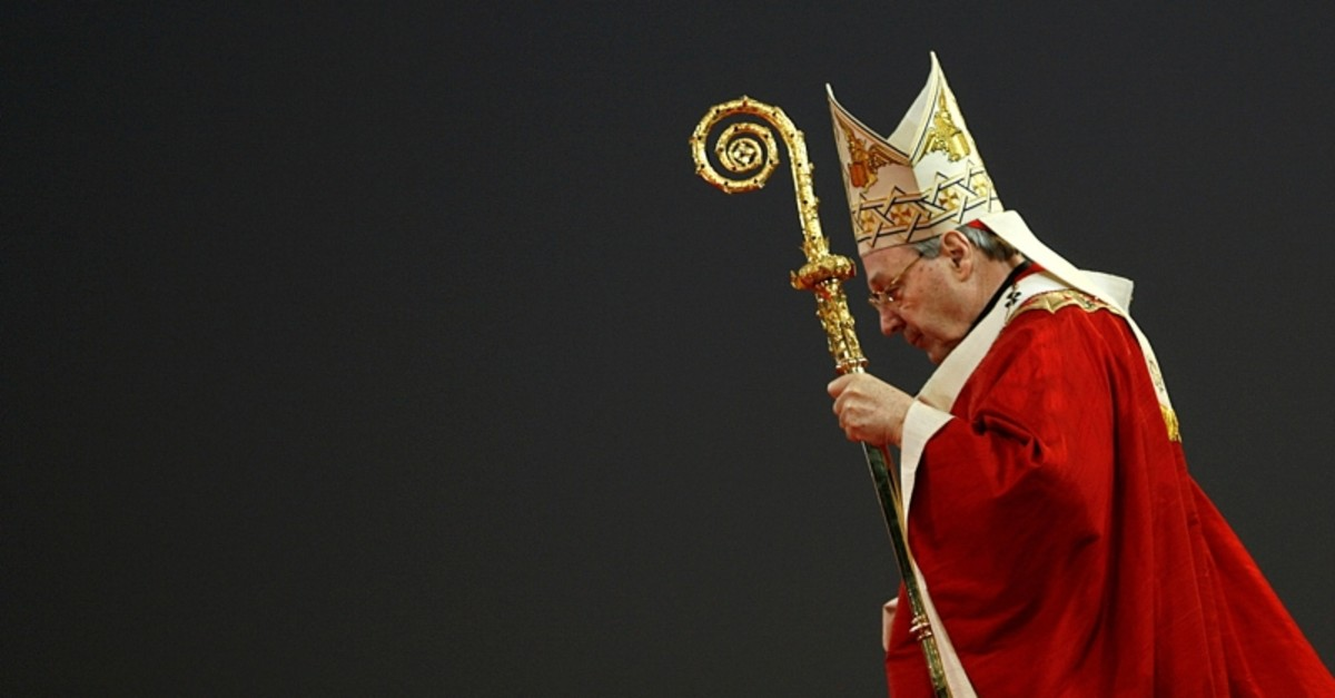 In this July 15, 2008, file photo, Cardinal George Pell seen during the opening mass for World Youth Day in Sydney. (Reuters Photo)
